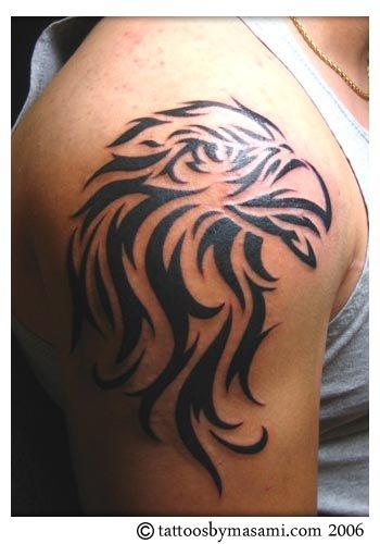 Eagle tattoo images designs for Tribal eagle tattoos