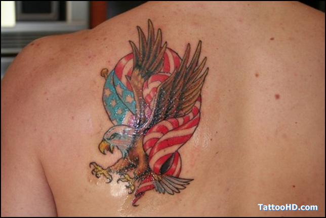 Eagle flag tattoo shoulder - photo#20