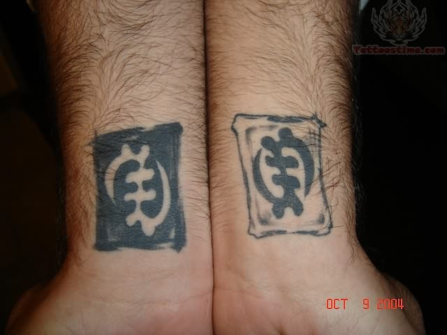 African Symbol Tattoos On Wrist