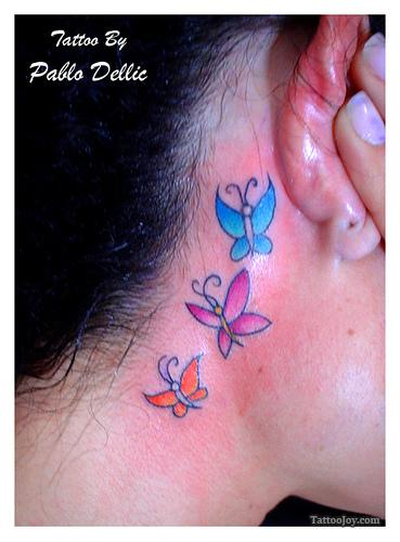 Feather hip tattoos for girls