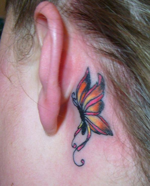 Tattoo Designs Behind Ear: Ear Tattoo Images & Designs