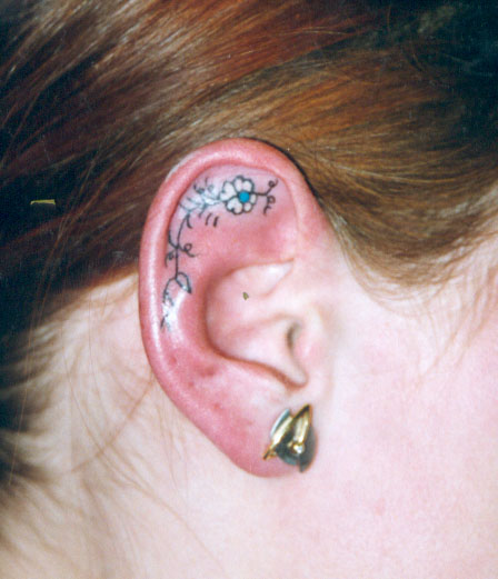 Ear Tattoo Images & Designs