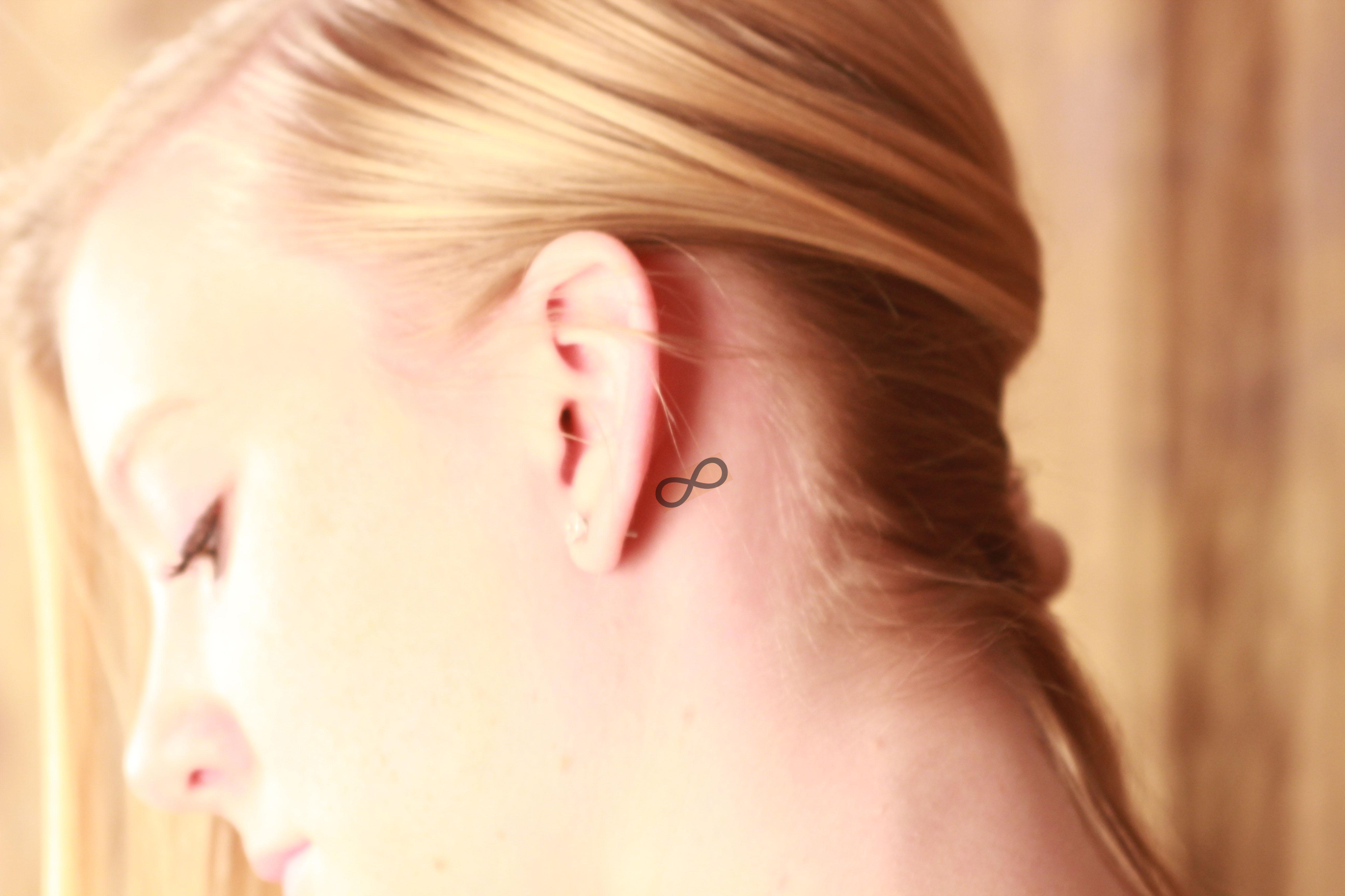 Infinity symbol behind ear tattoo izmirmasajfo