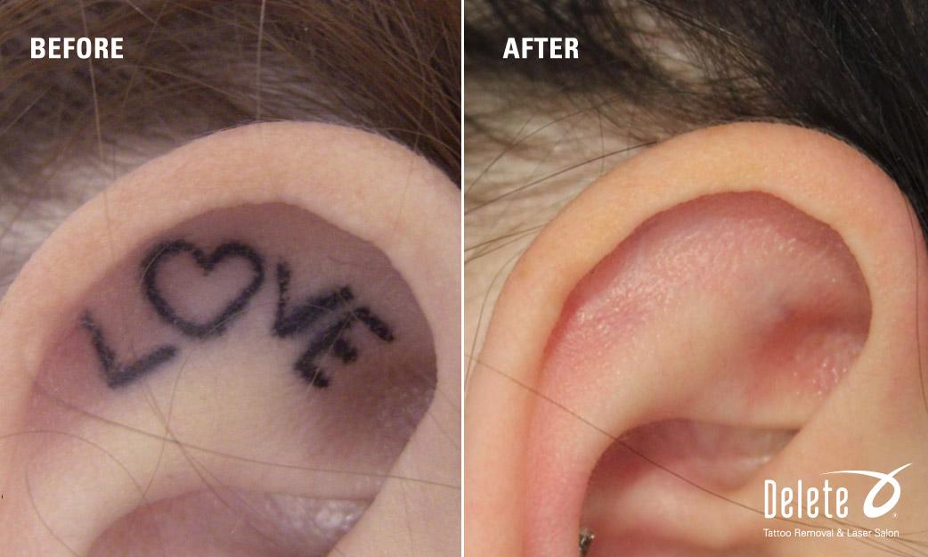 Love Tattoo Behind Ear