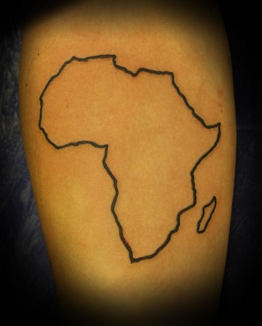 outline african mao tattoo rh tattoostime com small africa outline tattoo africa outline tattoo designs