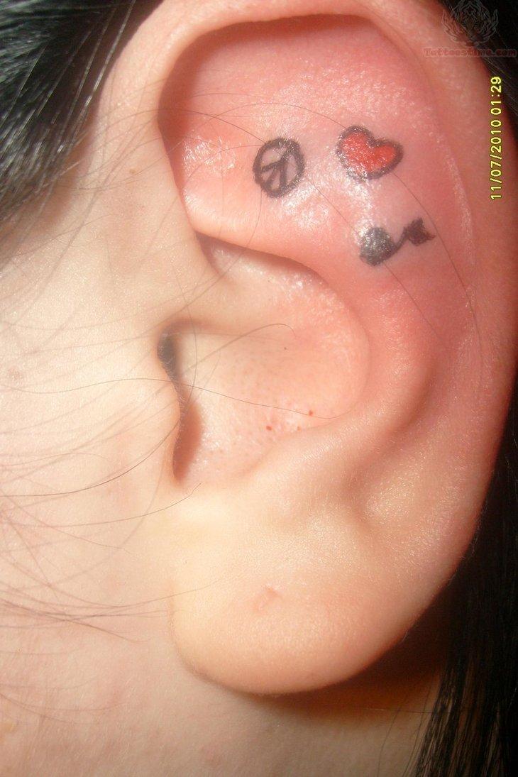 Tumblr Music Tattoos Behind Ear