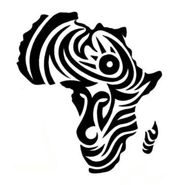 africa map tribal tattoo