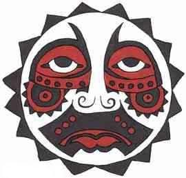 african tribal mask tattoo design