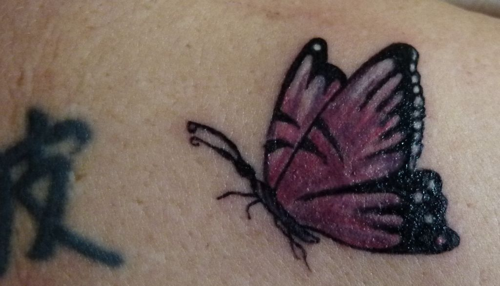 Best Amazing Flying Butterfly Tattoos 2014