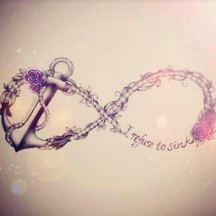 Infinity Symbol Anchor Tattoo