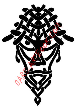 Tribal Native African Tattoo design