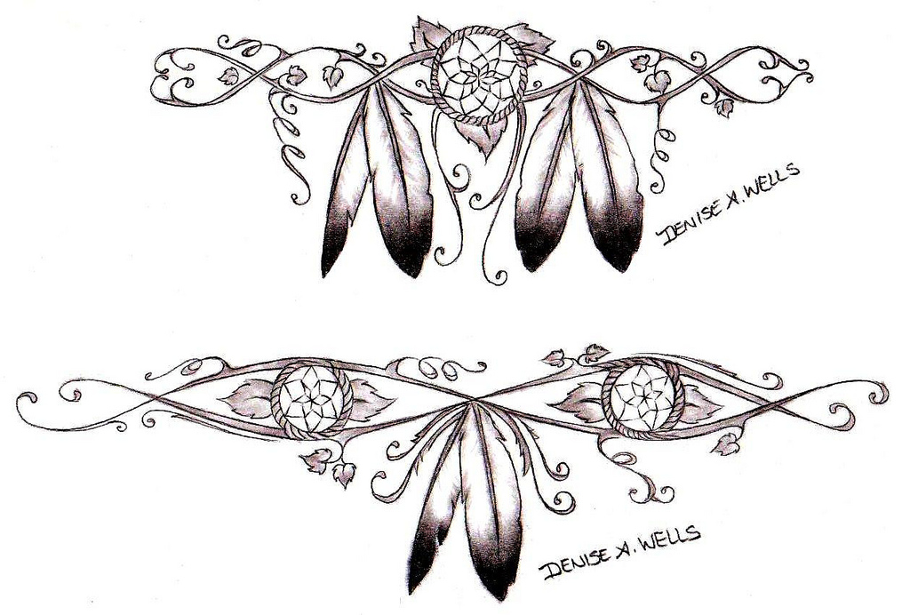 Feather Tattoo Designs,Rose And Skull Sleeve Tattoo Designs