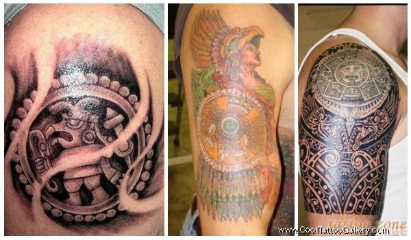 Aztec Tattoo Images & Designs Aztec Calendar Sleeve Tattoos