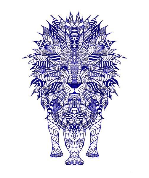 Aztec Lion Tattoo Design