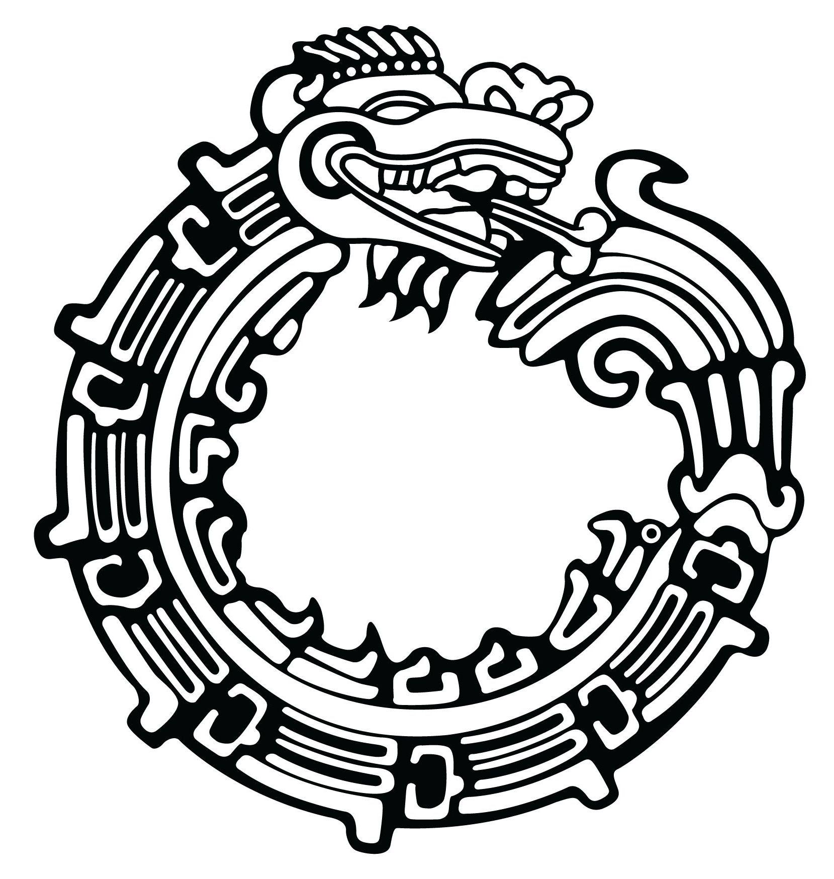 Aztec sun god tattoo design aztec ouroboros tattoo design biocorpaavc Image collections
