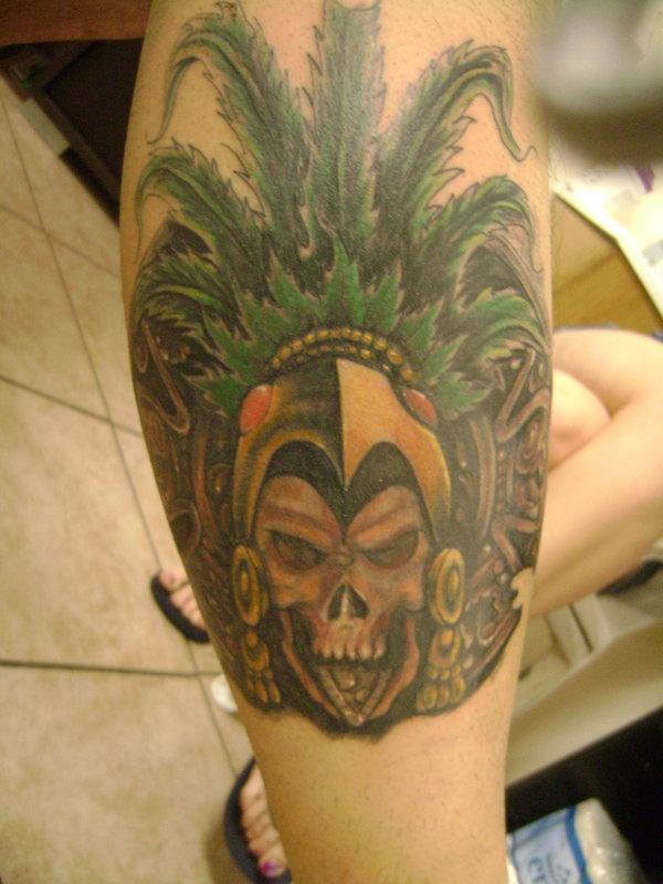 Aztecs Warriors Tattoos Aztec warrior tattoo on leg
