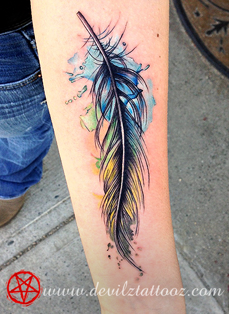 Feather tattoos designs ideas page 29 for Feather tattoo on arm