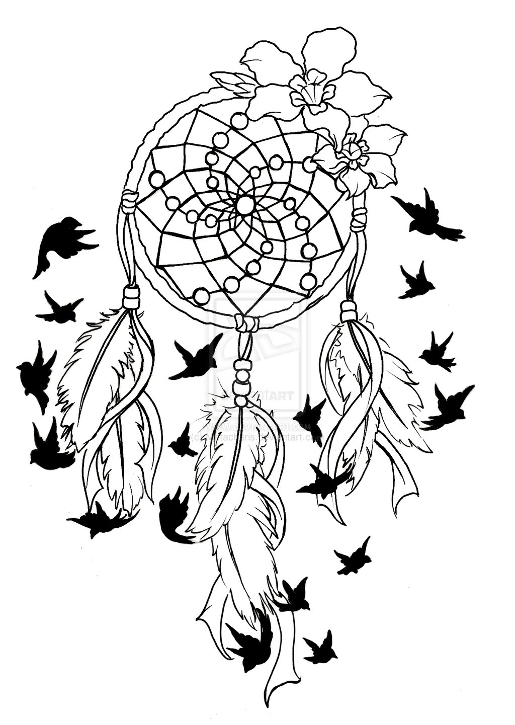 Dreamcatcher Colouring Pages