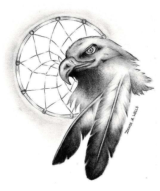 Eagle Head And Dreamcatcher  Eagle Head Tattoo Designs