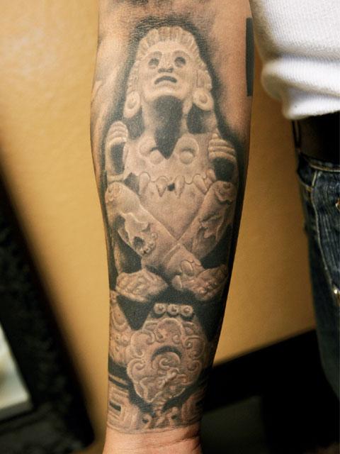 Forearm Aztec Tattoo