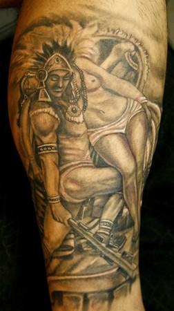 73efad1b9 Eagle Aztec Warrior Tattoos Grey ink aztec warrior tattoos - aztec ...