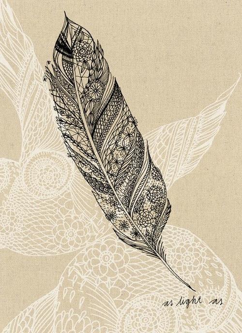 Henna Feather: Henna Feather Tattoo Design