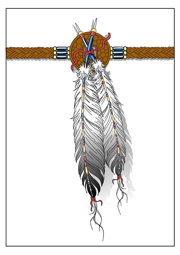 Indian feather tattoo design for Native american armband tattoo