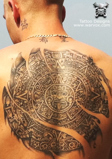 Aztec tattoos page 21 for Mayan tattoos designs