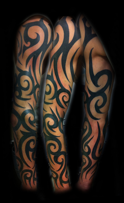 Sleeve tattoos page 126 for Black tribal tattoo ink