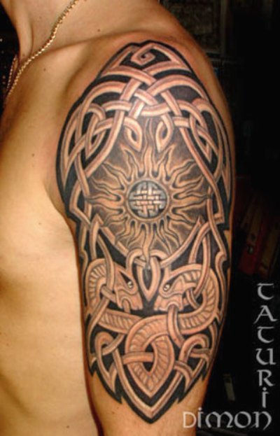 celtic half sleeve tattoo for men. Black Bedroom Furniture Sets. Home Design Ideas