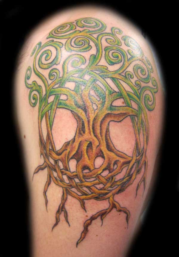 Celtic Tree Half Sleeve Tattoo