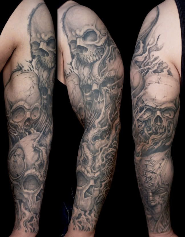 Skull Tattoo Sleeve