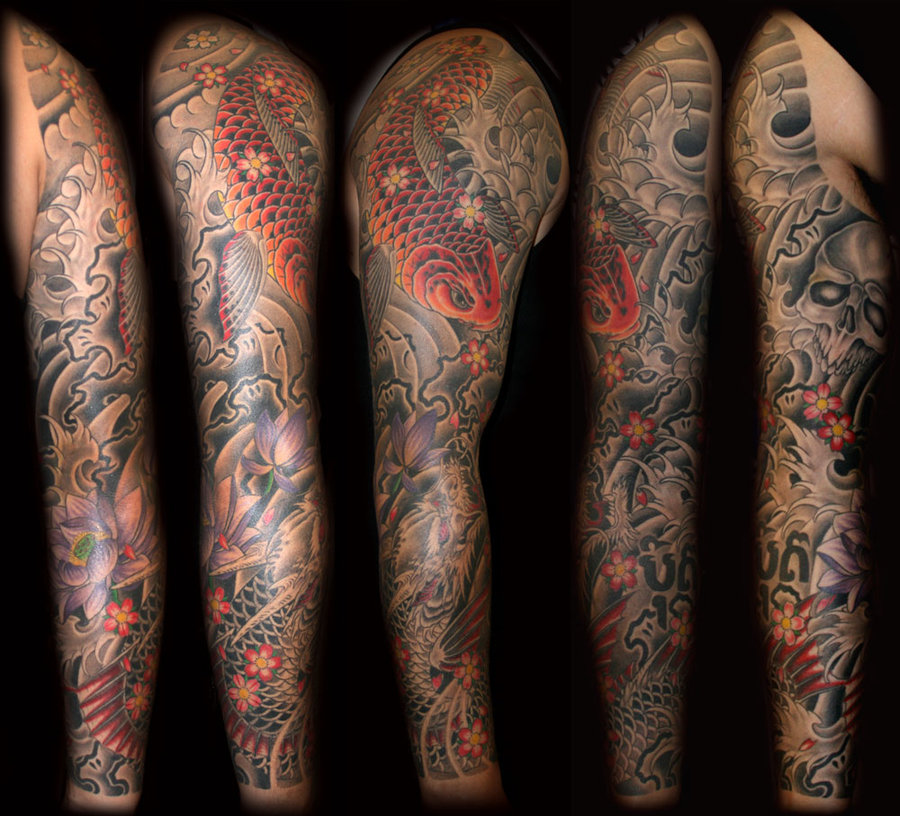 Koi Fish Tattoo Sleeve