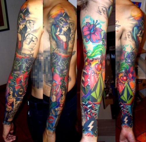 Manga Completa Sleeve Tattoo