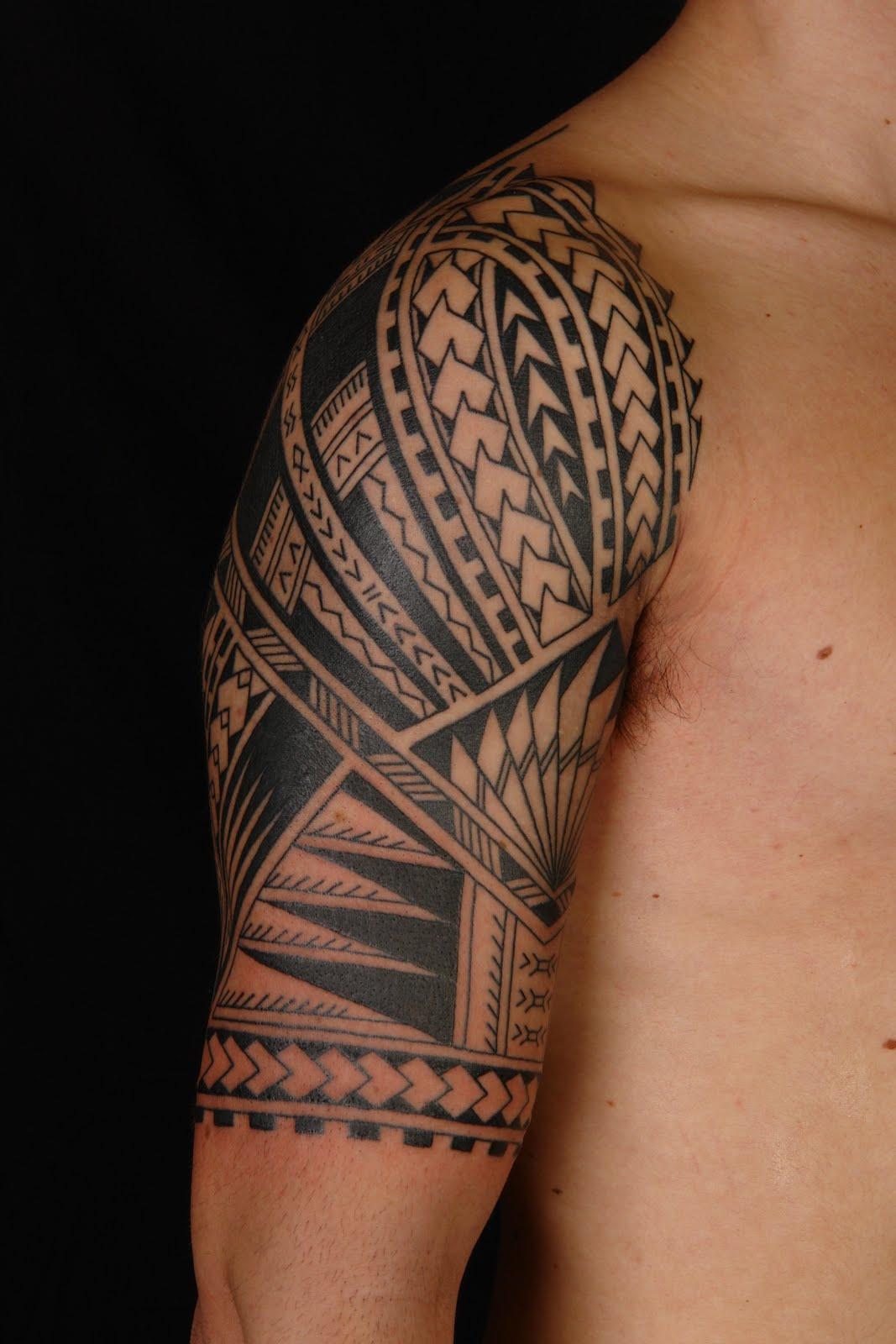 African Tribal Tattoo Half Sleeve: Maori Polynesian Half Sleeve Tattoo Ideas