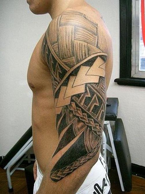Hawaiian Tribal Tattoos Sleeves Polynesian Trib...