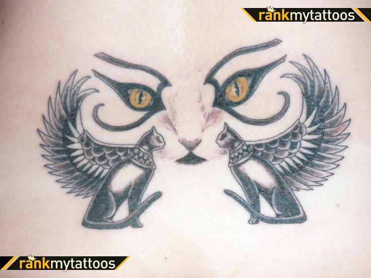 Egyptian tattoo images designs for Cat eyes tattoo designs