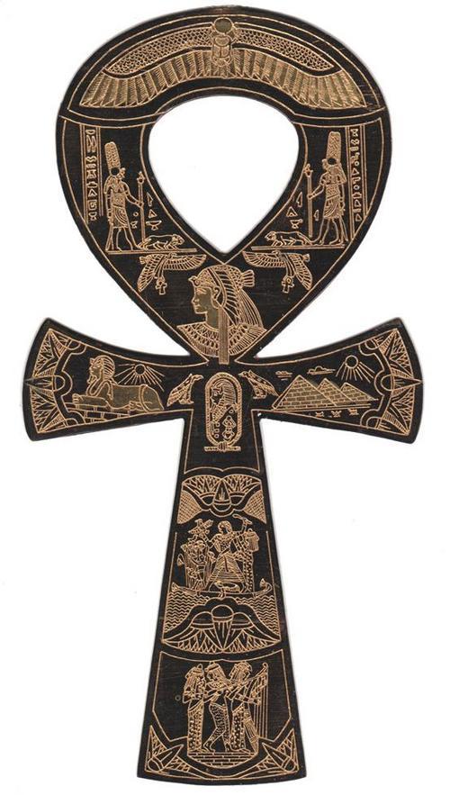 Egyptian Ankh Symbol Tattoo On Back