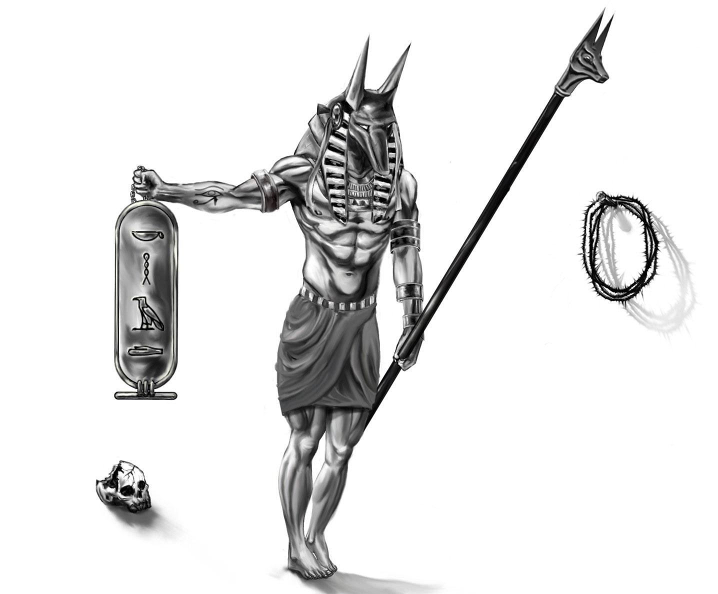 Egyptian god tattoo design for men buycottarizona
