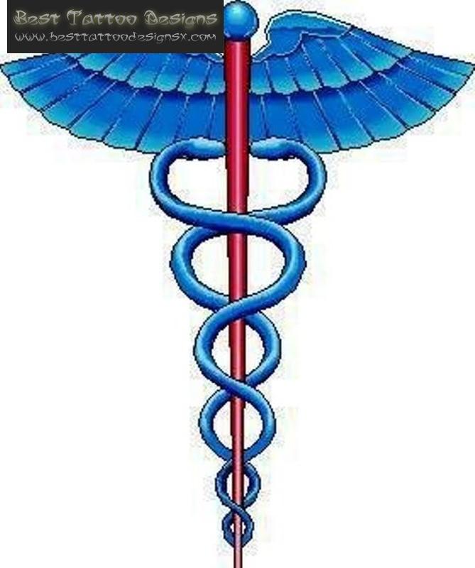 Egyptian Medical Symbol Tattoo Design