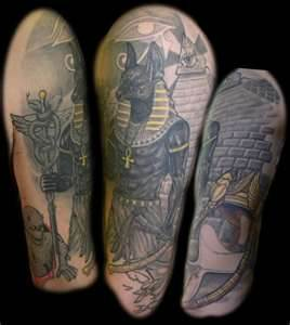 grey ink egyptian half sleeve tattoos. Black Bedroom Furniture Sets. Home Design Ideas