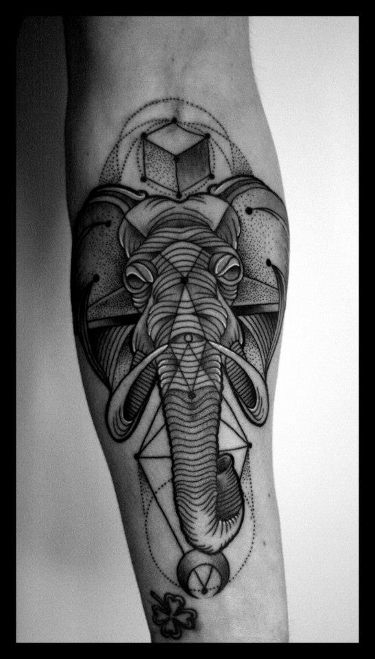 Abstract Elephant Head Tattoo Images amp Pictures Becuo