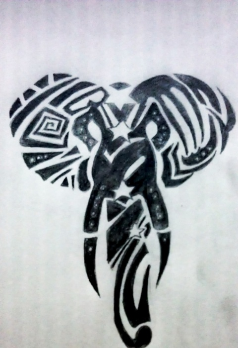Tribal elephant tattoo designs - photo#10