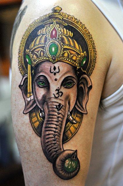 ganesh elephant head tattoo - photo #12