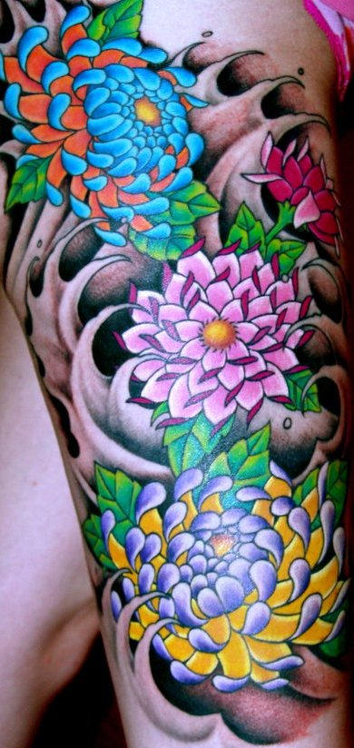 Thigh tattoos page 10 for Colorful thigh tattoos
