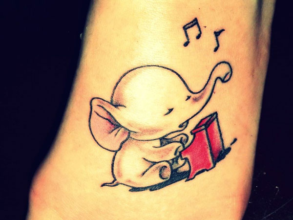 Cute Small Elephant Tattoo