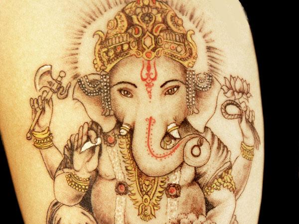ganesh elephant head tattoo - photo #20