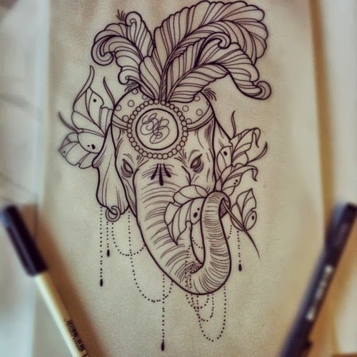 Gallery For gt Indian Elephant Head Tattoos