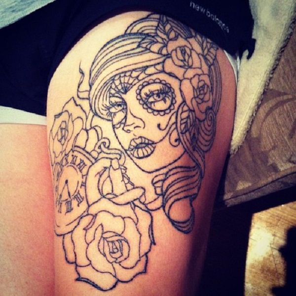 Girly skull tattoos designs tumblr