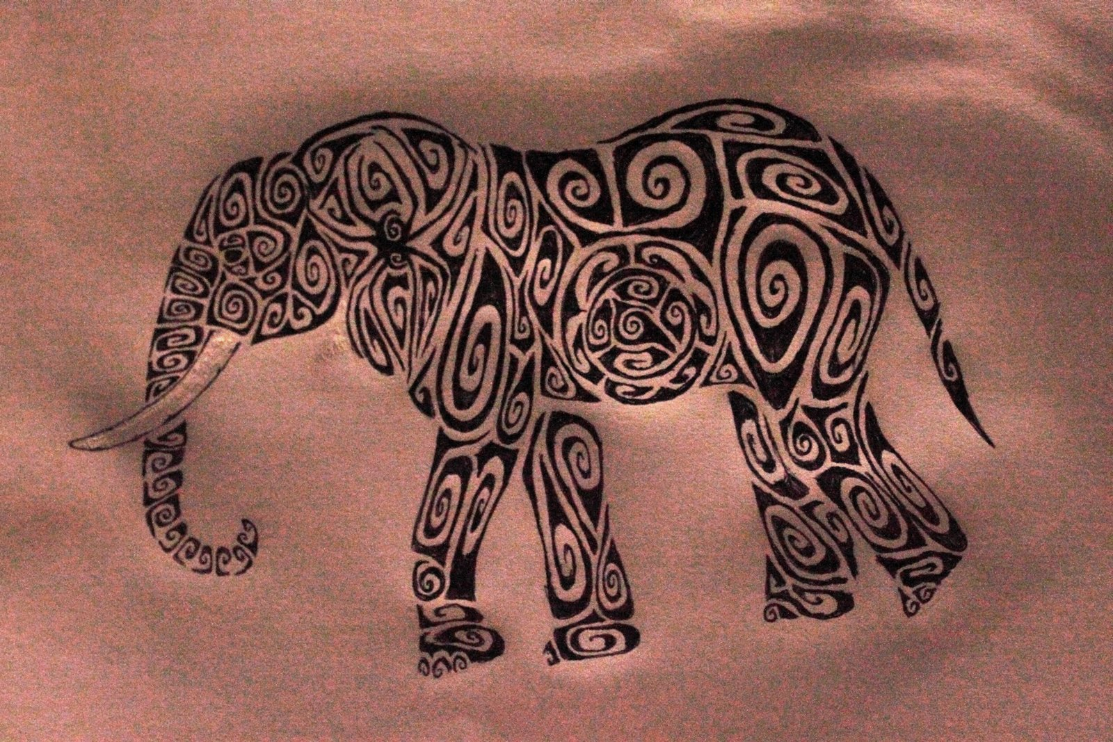 Tribal elephant tattoo designs - photo#22